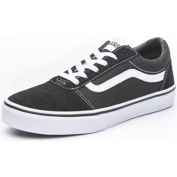 kengät Lapset Matalavartiset tennarit Vans Ward Valkoiset, Mustat