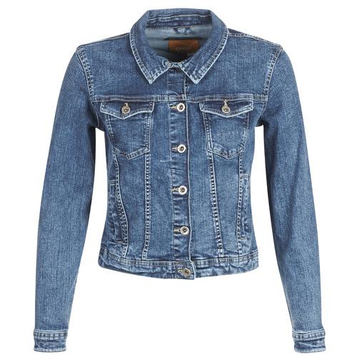vaatteet Naiset Farkkutakki Only ONLTIA Blue