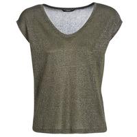 vaatteet Naiset Lyhythihainen t-paita Only ONLSILVERY Kaki