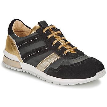 kengät Tytöt Matalavartiset tennarit Catimini CAMELINE Black / Kulta