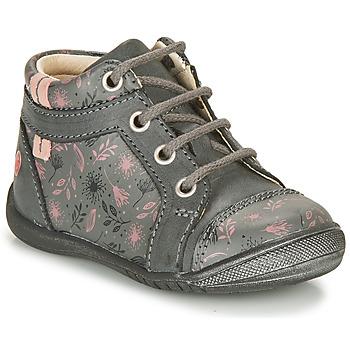 kengät Tytöt Bootsit GBB OMANE Grey / Pink