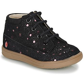 kengät Tytöt Bootsit GBB NINON Musta / Vaaleanpunainen