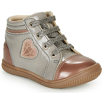 kengät Tytöt Korkeavartiset tennarit GBB OTANA Grey / Pink