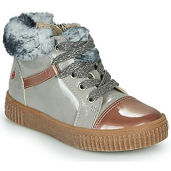 kengät Tytöt Korkeavartiset tennarit GBB ORBA Grey