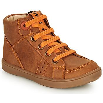 kengät Pojat Korkeavartiset tennarit GBB ANGELITO Cognac / Orange