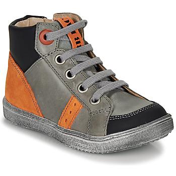 kengät Pojat Korkeavartiset tennarit GBB ANGELITO Grey / Orange