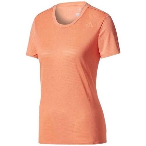 vaatteet Naiset Lyhythihainen t-paita adidas Originals SN SS Tee W Oranssin väriset