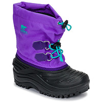 kengät Lapset Talvisaappaat Sorel CHILDRENS SUPER TROOPER Black / Violet
