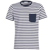 vaatteet Miehet Lyhythihainen t-paita Casual Attitude KARALE Laivastonsininen / White