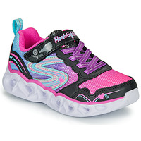 kengät Tytöt Matalavartiset tennarit Skechers HEART LIGHTS Black / Pink