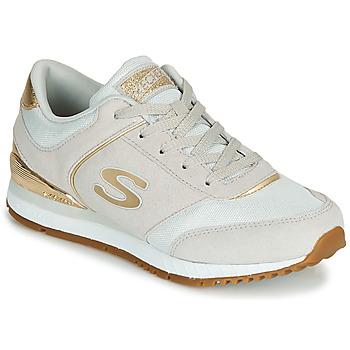 kengät Naiset Matalavartiset tennarit Skechers SUNLITE Grey / Kulta