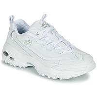 kengät Naiset Matalavartiset tennarit Skechers D'LITES White