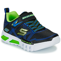 kengät Pojat Matalavartiset tennarit Skechers SKECHERS BOY Blue / Green
