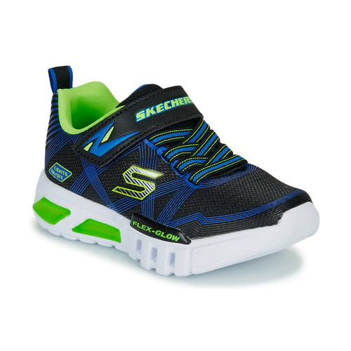 kengät Pojat Matalavartiset tennarit Skechers SKECHERS BOY Blue / Green