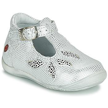 kengät Tytöt Sandaalit ja avokkaat GBB MARIE White / Hopea