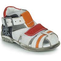 kengät Pojat Sandaalit ja avokkaat GBB MELVIL Valkoinen / Punainen / Oranssi