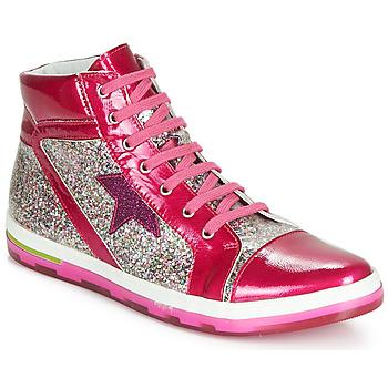 kengät Tytöt Korkeavartiset tennarit Ramdam KATO Vaaleanpunainen