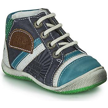 kengät Pojat Bootsit Catimini CIGOGNE Sininen / Vihreä