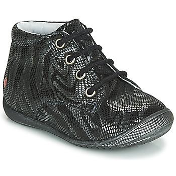 kengät Tytöt Bootsit GBB NAOMI Black / Hopea
