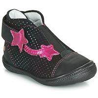 kengät Tytöt Bootsit GBB NOLWENN Black / Pink