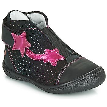 kengät Tytöt Bootsit GBB NOLWENN Musta / Vaaleanpunainen
