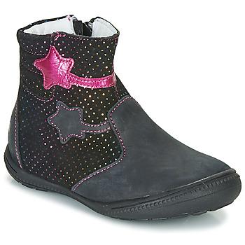 kengät Tytöt Bootsit GBB NADIA Musta / Vaaleanpunainen