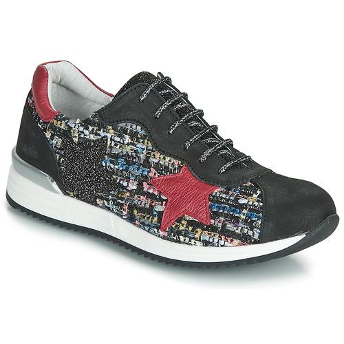 kengät Tytöt Matalavartiset tennarit Achile LAURA Black / Red / Multicolour