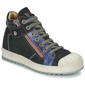 kengät Pojat Korkeavartiset tennarit Achile DIEGO Black / Blue