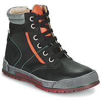 kengät Pojat Bootsit Achile MANUEL Black / Orange