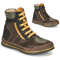 kengät Pojat Bootsit Achile MANUEL Brown / Yellow