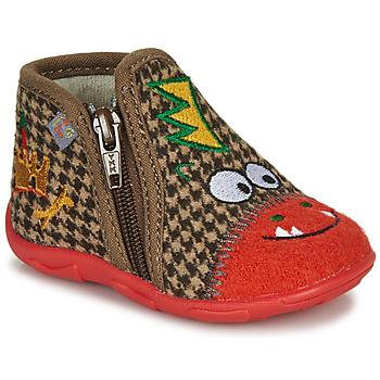 kengät Pojat Tossut GBB NEREO Red / Brown