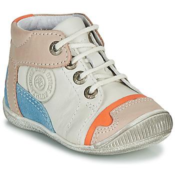 kengät Pojat Bootsit GBB PAOLO White / Beige / Blue