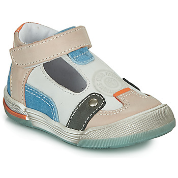 kengät Pojat Sandaalit ja avokkaat GBB PERCEVAL White / Beige / Blue