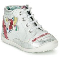 kengät Tytöt Bootsit Catimini POUSSIN White