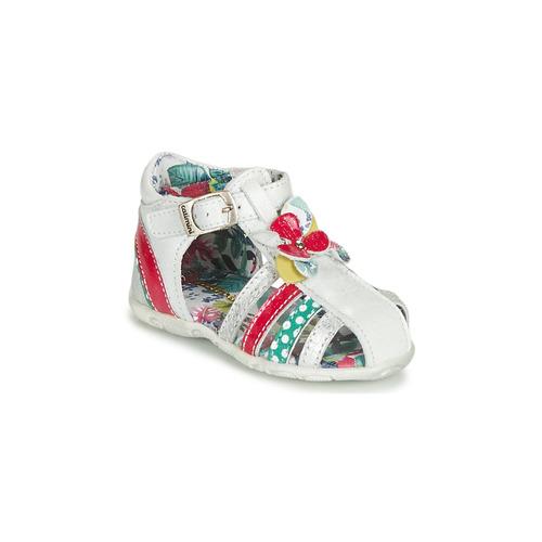 kengät Tytöt Sandaalit ja avokkaat Catimini PERSAN White / Multicolour