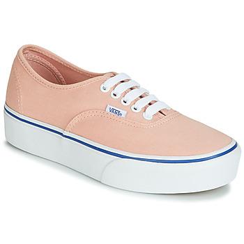 kengät Naiset Matalavartiset tennarit Vans AUTHENTIC PLATFORM 2.0 Pink