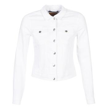 vaatteet Naiset Farkkutakki Only ONLTIA White