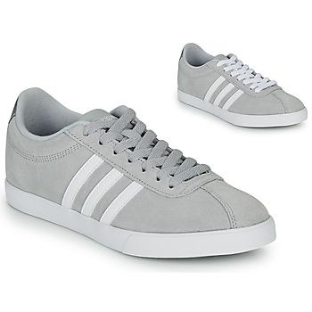 kengät Naiset Matalavartiset tennarit adidas Originals COURTSET GRIS Grey