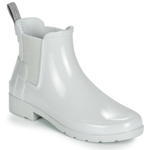 kengät Naiset Kumisaappaat Hunter ORIGINAL KIDS Grey