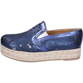 kengät Naiset Espadrillot Olga Rubini slip on blu tessuto paillettes BS110 Blu