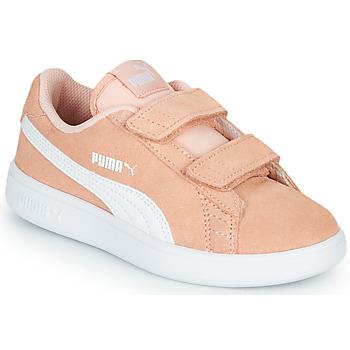 kengät Tytöt Matalavartiset tennarit Puma SMASH PSV PEACH Koralli