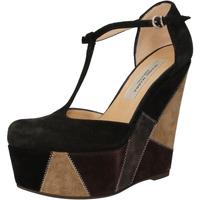 kengät Naiset Sandaalit ja avokkaat Gianni Marra zeppe nero camoscio grigio AK894 nero