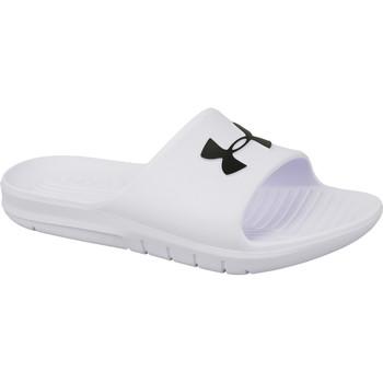 kengät Miehet Rantasandaalit Under Armour Core PTH Slides Blanc