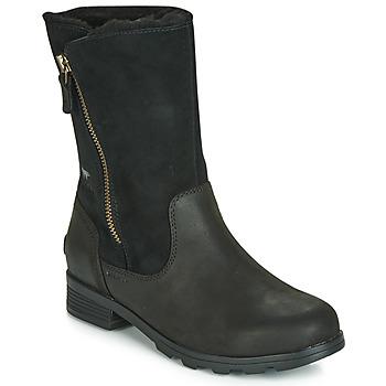 kengät Naiset Bootsit Sorel EMELIE FOLDOVER Black
