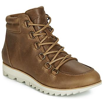 kengät Naiset Bootsit Sorel HARLOW LACE Cognac