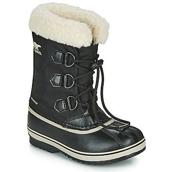 kengät Lapset Talvisaappaat Sorel YOOT PAC NYLON Black