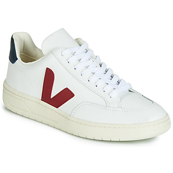 kengät Matalavartiset tennarit Veja V-12 LEATHER White / Blue / Red