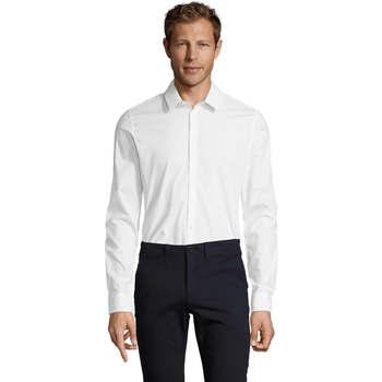 vaatteet Miehet Pitkähihainen paitapusero Sols BLAKE MODERN MEN Blanco