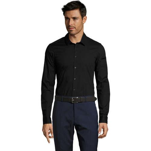 vaatteet Miehet Pitkähihainen paitapusero Sols BLAKE MODERN MEN Negro