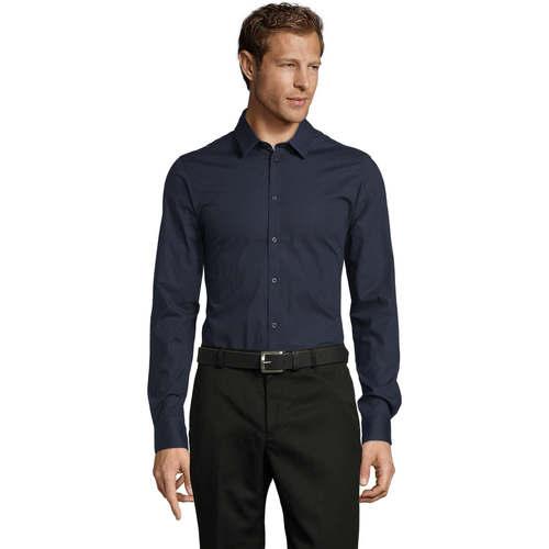 vaatteet Miehet Pitkähihainen paitapusero Sols BLAKE MODERN MEN Azul